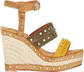 Lanvin Women's Studded Platform Wedge Sandals
