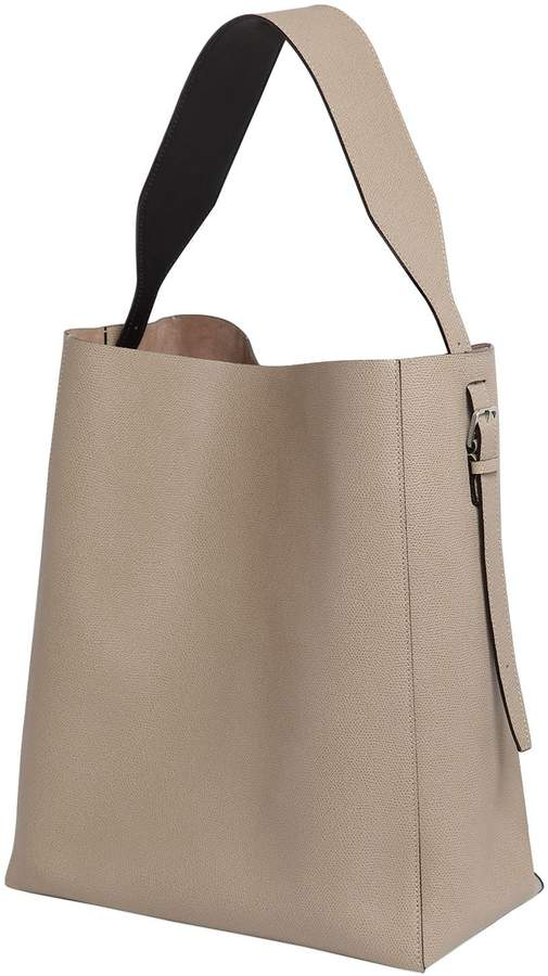 Valextra Medium Leather Hobo Bag