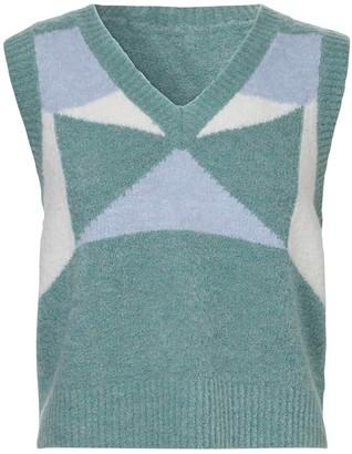 Dodo Bar Or Silvia Intarsia Wool Blend Vest