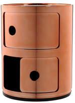 Kartell Componibili Metallic 2 Tier Unit - Copper
