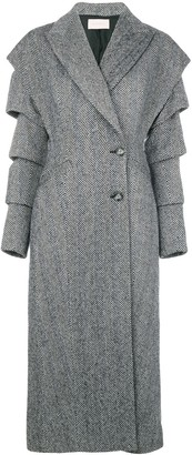 Christopher Kane slash wool coat