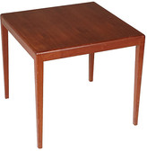 One Kings Lane Vintage 1960s Square Teak Side Table - 2-b-Modern - multi