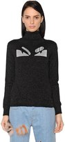 Fendi Monster Lurex & Wool Turtleneck Sweater