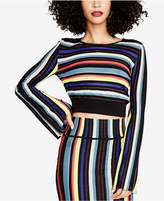 Rachel Roy Striped Cropped Sweater, Created for Macy's