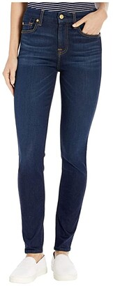7 For All Mankind The High-Waist Ankle Skinny in Slim Illusion Tried True (Slim Illusion Tried & True) Women's Jeans