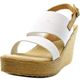 Sbicca Camilla Women Open Toe Canvas Wedge Sandal.