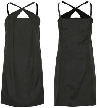 Format Plot Dress Black Silk - black / L