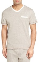 Majestic International Men's Vintage Space Cadet V-Neck T-Shirt