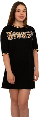 Mjc Usa MJC USA Women's Nightgowns BLACK - Mickey Mouse Black & Brown Sleepshirt - Juniors