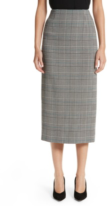 Victoria Beckham Prince of Wales High Waist Pencil Skirt