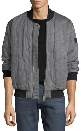 Burberry Knit Quilted Bomber Jacket w/ Nylon Sleeves