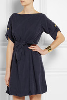 Burberry Knot-front washed-satin dress