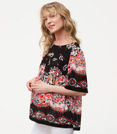 LOFT Maternity Sunset Paisley Relaxed Top