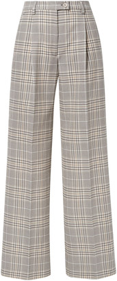 Acne Studios Pina Prince Of Wales Checked Cotton-blend Wide-leg Pants