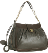 brown leather 'Francoise' chain link bag