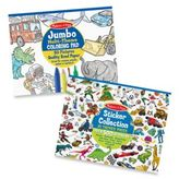 Melissa & Doug Multi-Theme Coloring and Sticker Pad Bundle
