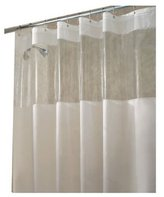 InterDesign Hitchcock Shower Curtain, 72 x 72, Clear