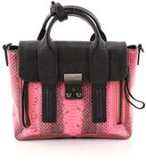3.1 Phillip Lim Pre-owned: Pashli Satchel Python Embossed And Leather Mini.