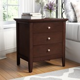 Laurèl Sonja 3 Drawer Nightstand Foundry Modern Farmhouse Color: Cappuccino