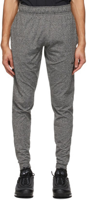 Nike Grey and Black Dri-FIT Yoga Sweatpants