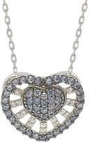 LeVian Suzy Diamonds Suzy Silver 0.88 Ct. Tw. Sapphire Heart Necklace