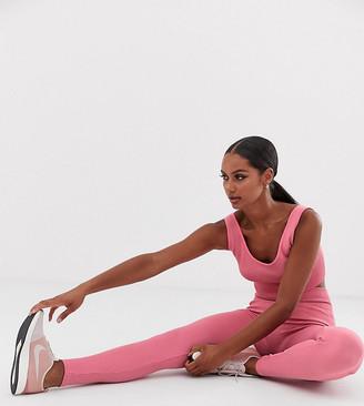South Beach rib seamless leggings in pink