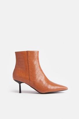 Coast Croc Heeled Pixie Ankle Boot