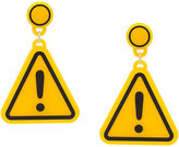 Yazbukey warning sign earrings