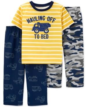 Carter's Toddler Boys 3-Pc. Heavy Dozer Pajamas Set