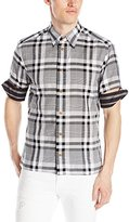 Vivienne Westwood Men's Twisted Short-Sleeve Button-Down Shirt
