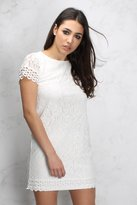 Rare Cream Crochet Lace Shift Dress