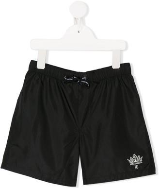 Dolce & Gabbana Kids Logo Print Swimming Shorts