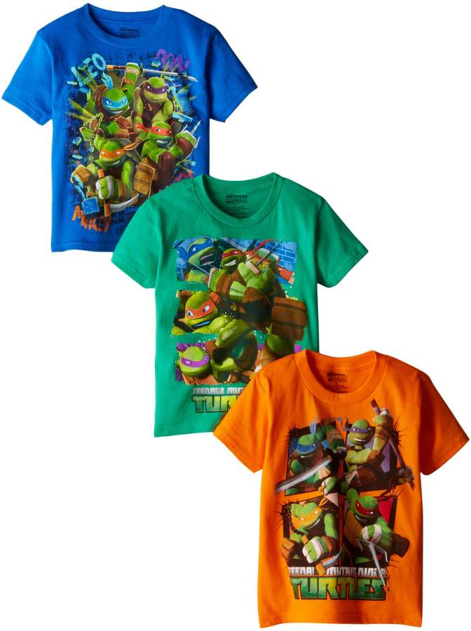 Nickelodeon Little Boys' Ninja Turtles 3 Pack Tees