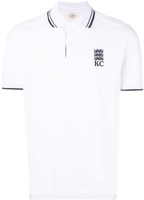 Kent & Curwen embroidered polo shirt