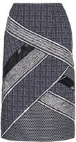 Jonathan Simkhai Patchwork Angle Pencil Skirt