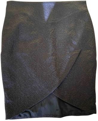 CNC Costume National Black Wool Skirt for Women