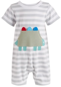 First Impressions Baby Boys Dino Pocket Striped Cotton Sunsuit, Created for Macy's