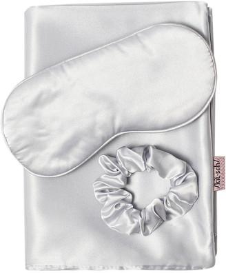 Kitsch Satin Sleep Set Silver