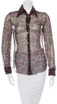 Dolce & Gabbana Sheer Printed Top