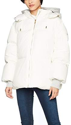 Tommy Hilfiger Women's Ivan Super Down Coat Jacket, (Snow White 118), 10 (Size: Small)