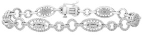 Wrapped in Love Diamond (2 ct. t.w) Oval Link Bracelet in 14K White Gold