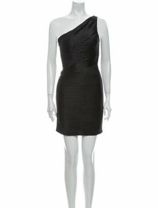 Nha Khanh One-Shoulder Mini Dress w/ Tags Black