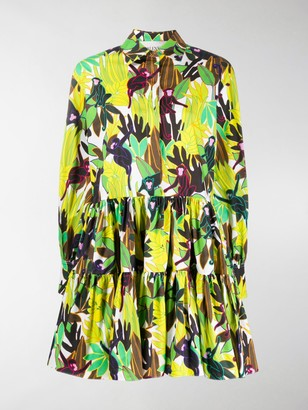 Valentino Monkeys Forest print poplin dress