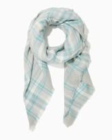 Charming charlie Shades of Plaid Blanket Scarf