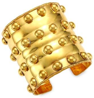 Sylvia Toledano Stone Massai III 22K Goldplated Cuff