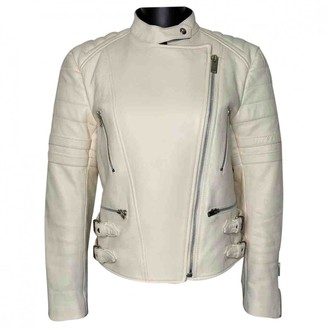 Celine White Leather Jackets