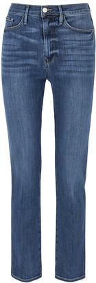 Frame Le Sylvie Slender Blue Straight-leg Jeans