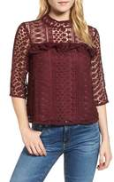 Cupcakes And Cashmere Kebecka Lace Top