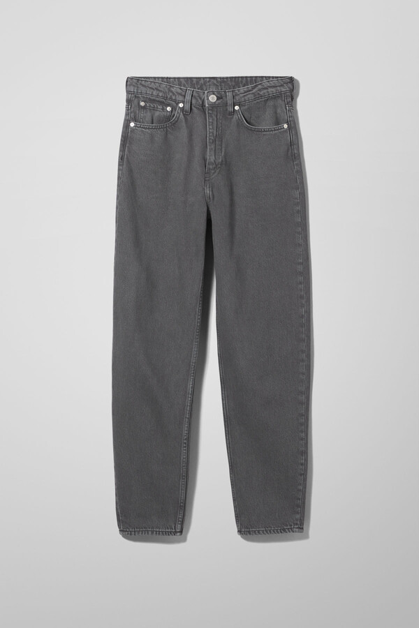 Thumbnail for your product : Weekday Lash Extra High Mom Jeans - Grey