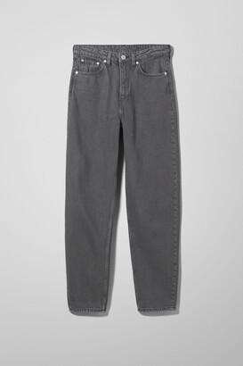 Weekday Lash Extra High Mom Jeans - Grey